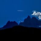 Night flight over the alps! by TimConstable