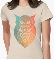 Geometrical Owl Women's Fitted T-Shirt