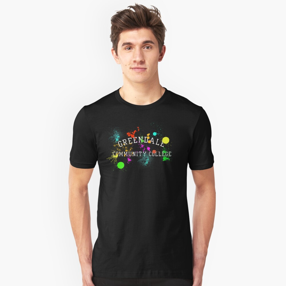 Greendale Community College - Paintball Slim Fit T-Shirt