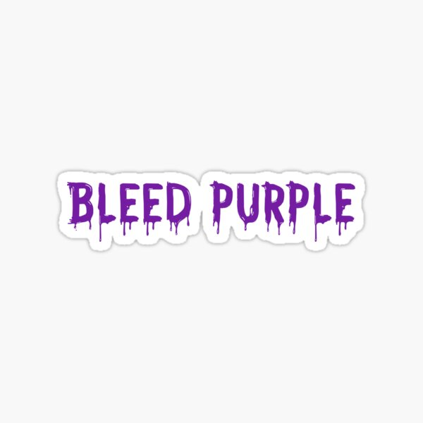 Bleed Purple Sticker