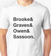 English World War I Poets Unisex T-Shirt