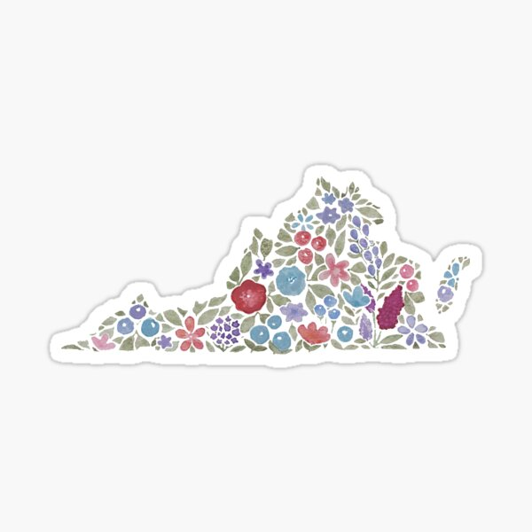 Floral Virginia Sticker