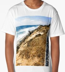 Cliff View, Ponto Beach, Carlsbad, CA, USA Long T-Shirt