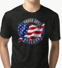 Army Veteran Proud to Be American Flag t-shirt Tri-blend T-Shirt