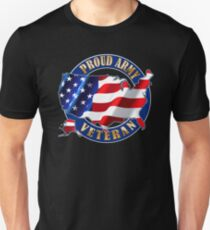 Army Veteran Proud to Be American Flag t-shirt T-Shirt