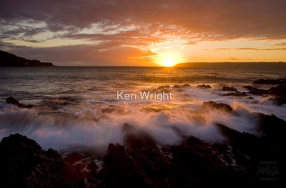 Gold rush, Titahi Bay, New Zealand by Ken Wright