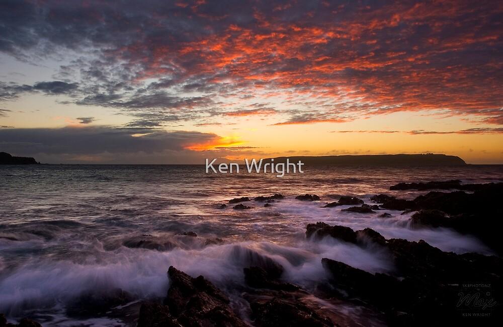 Glowing Embers, Titahi Bay - Wide by Ken Wright