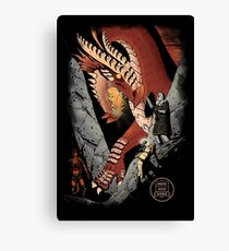 Dungeons & Delvers: Black Book (Ragged) Canvas Print