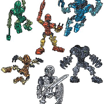 The Six Toa Heroes by daoustdraws