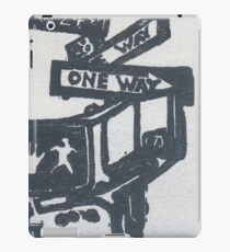 black and silver street signs iPad Case/Skin