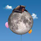Bat on the Moon by sjolivieri