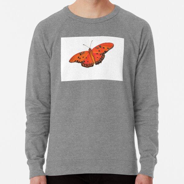 Gulf Fritillary Butterfly Lightweight Sweatshirt