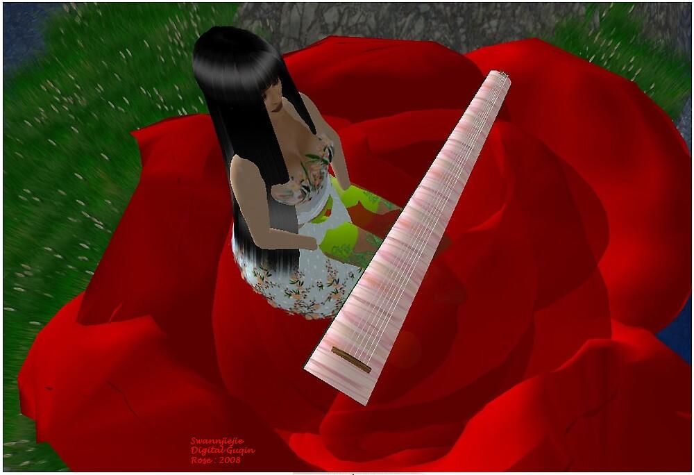 Digital Guqin rose by swannjiejie