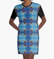 Viola Bouquet Graphic T-Shirt Dress