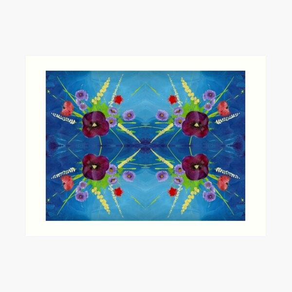 Viola Bouquet Art Print