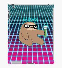 Science Sloth Vaporwave Grid Pattern iPad Case/Skin