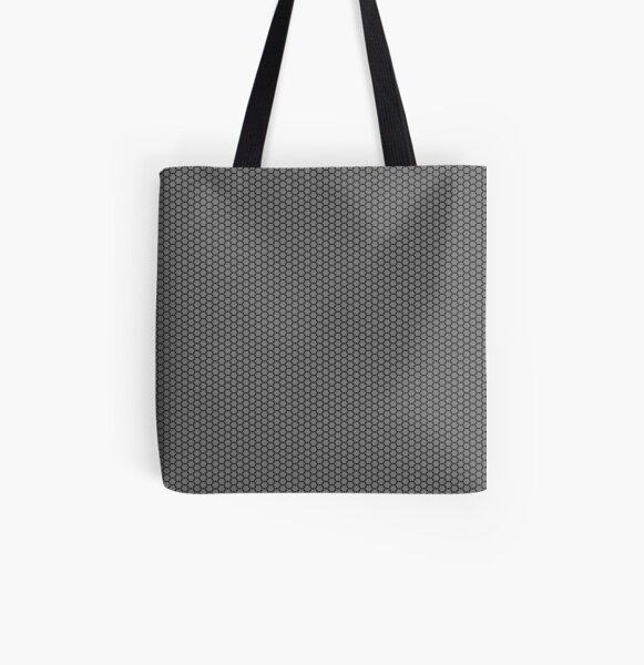 Motif noir et gris Tote bag doublé