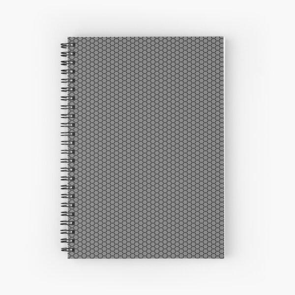 Motif noir et gris Cahier à spirale