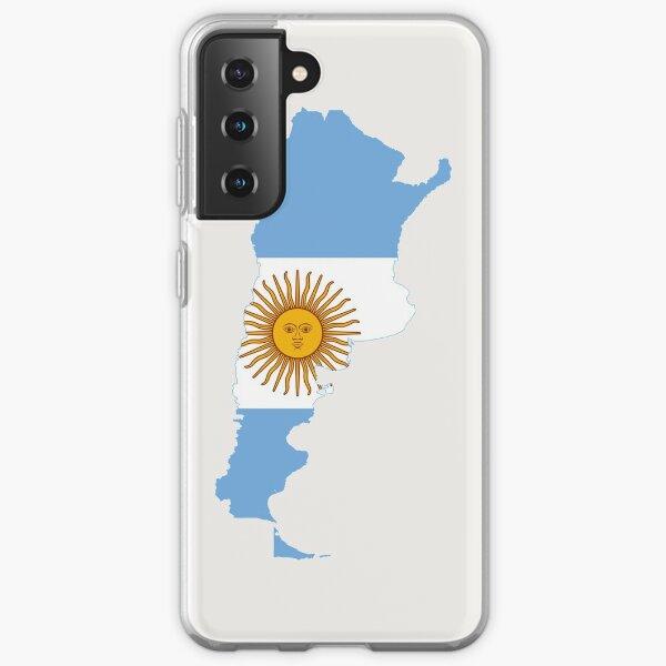 Flag Map of Argentina  Samsung Galaxy Soft Case