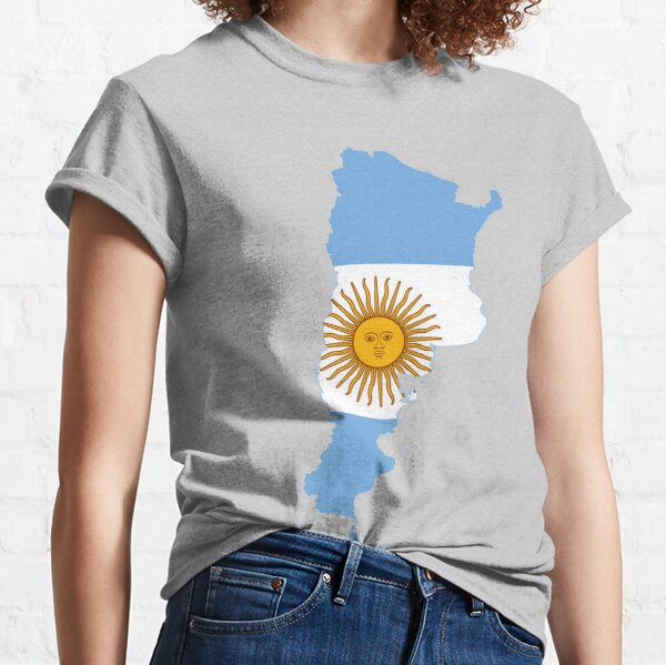 Flag Map of Argentina  Classic T-Shirt