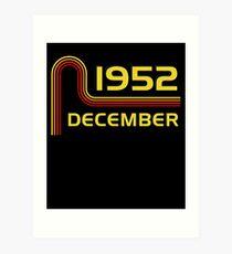 December Vintage Retro Birthday  1952  65th T-Shirt Sweater Hoodie Iphone Samsung Phone Case Coffee Mug Tablet Case Gift Art Print