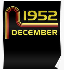 December Vintage Retro Birthday  1952  65th T-Shirt Sweater Hoodie Iphone Samsung Phone Case Coffee Mug Tablet Case Gift Poster
