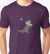 Bird and Raccoon Unisex T-Shirt