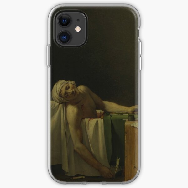 The Death of Marat by Jacques-Louis David iPhone Soft Case