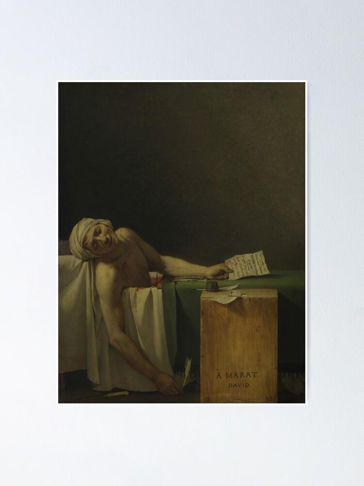 Jacques Louis David A Morte De Marat Lona Poster Foto Parede Home Decor