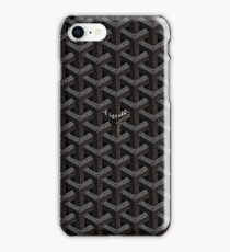 black pattern iPhone Case/Skin