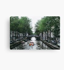 Canal Cruise Canvas Print