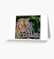 The Tiger Roams Greeting Card