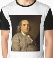 Benjamin Franklin 1785 by Joseph-Siffrein Duplessis (1) Graphic T-Shirt