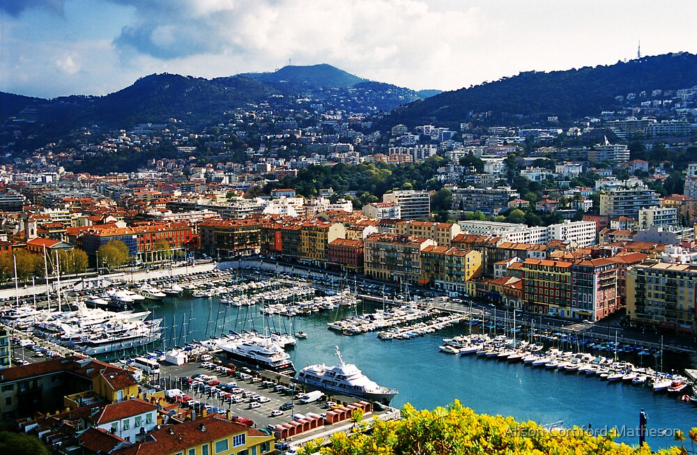 Nice Harbour, France by Alison Cornford-Matheson