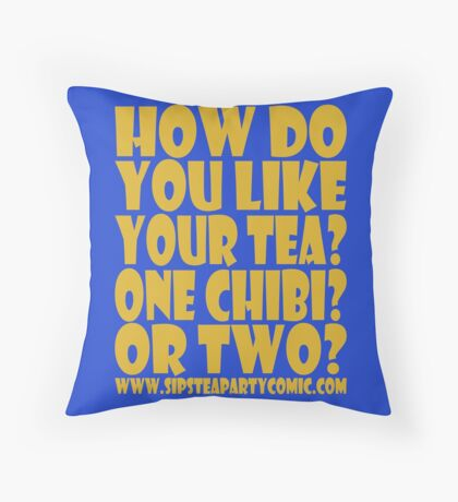 STPC: How Do You Like Your Tea? One Chibi? Or Two? 1.0 Throw Pillow
