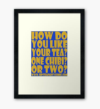 STPC: How Do You Like Your Tea? One Chibi? Or Two? 1.0 Framed Art Print