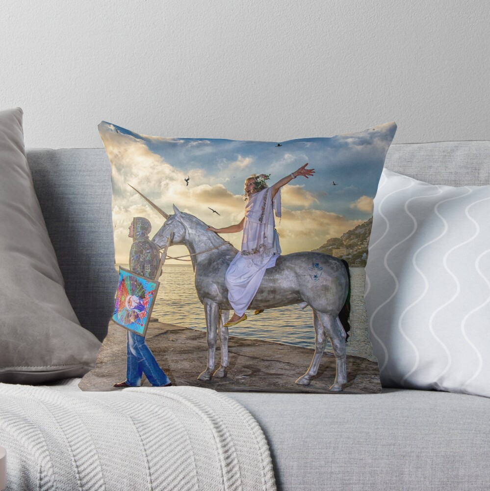 The triumphant return of Lady Art Throw Pillow