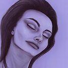 Sophia Loren celebrity portrait by Margaret Sanderson