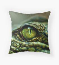 Eye of the Crocodile [iPad / Phone cases / Prints / Decor] Throw Pillow
