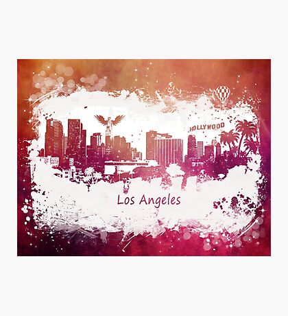 Los Angeles California skyline Photographic Print
