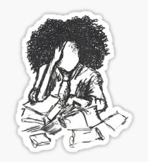 Stressed Sticker