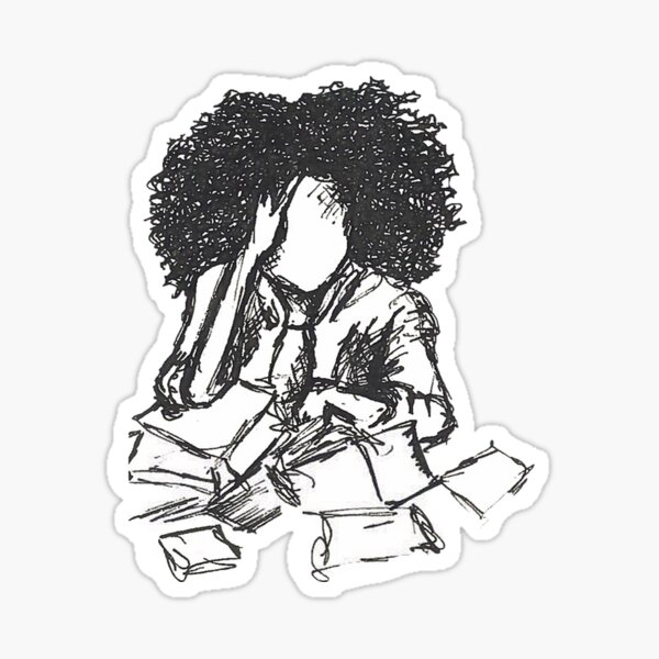 Stressed Sticker
