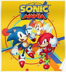 Sonic Mania Artwork Poster