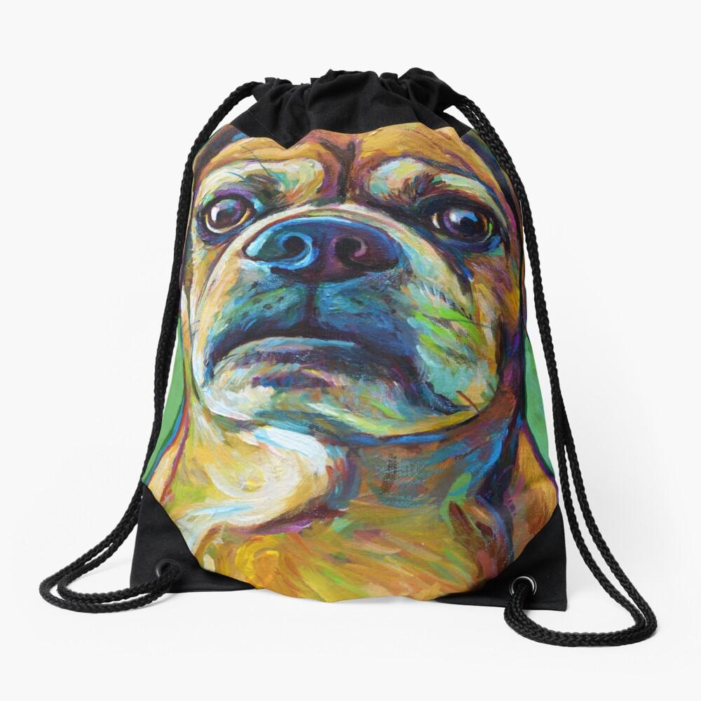 Cute Puggle--Part Pug Part Beagle Drawstring Bag