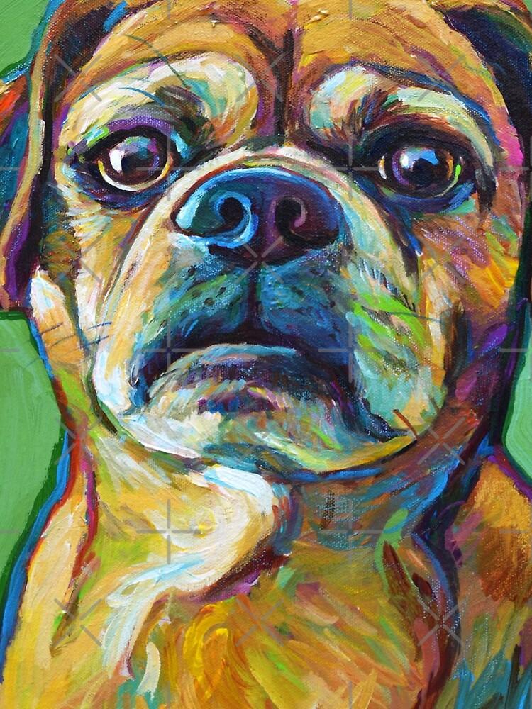 Cute Puggle--Part Pug Part Beagle by RobertPhelpsArt