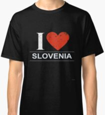 I Love Slovenia Gift For Slovenian or Slovene SLOVENIA T-Shirt Sweater Hoodie Iphone Samsung Phone Case Coffee Mug Tablet Case Classic T-Shirt