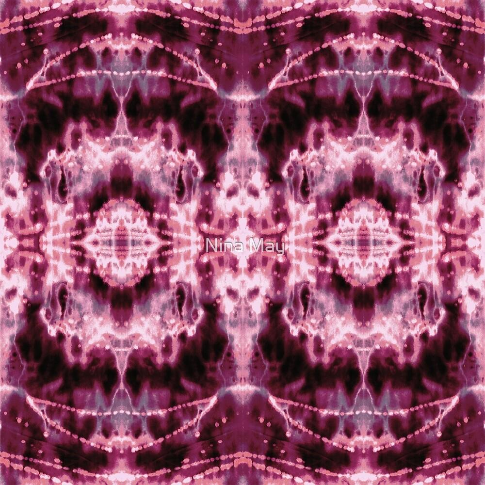 Celestial Nouveau Tie-Dye Burgundy by Nina May
