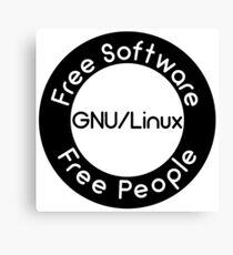 GNU/Linux Canvas Print