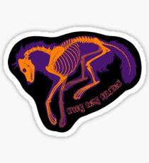 """Wolf Bones Sticker - """"Spooky Scary Skeletons!"""" Sticker"""