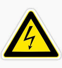 High voltage Warning sign Sticker